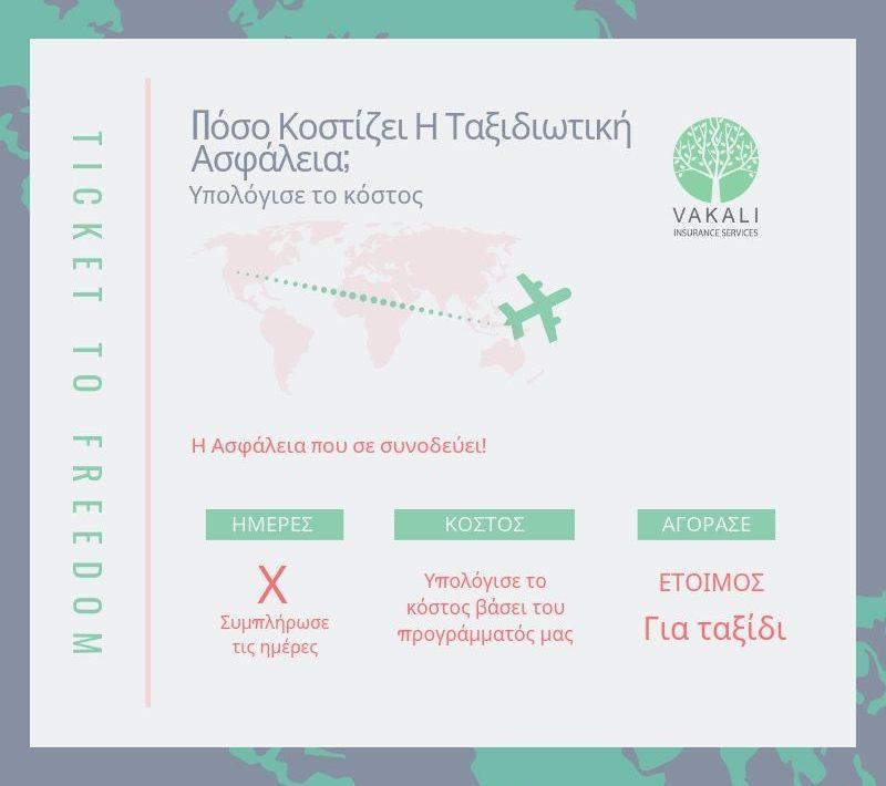 Υπολογισμός Κόστους Ταξιδιωτικής Ασφάλισης